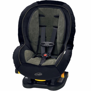 Evenflo Triumph 5 Comfort Touch Convertible Car Seat in Green Grid