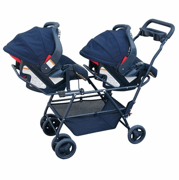 Swan Snap N Go Double Stroller Frame in Navy