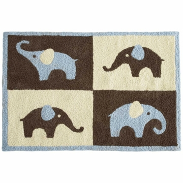 Carter's Blue Elephant Rug