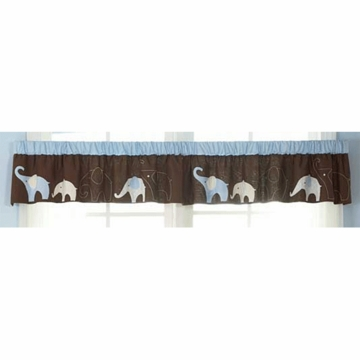 Carter's Blue Elephant Window Valance