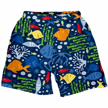 iPlay Ultimate Swim Diaper Trunks - Classics Navy Undersea - Medium (12 mo)