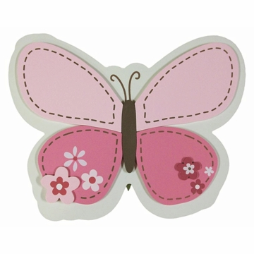Carter's Butterfly Flowers Wall Art
