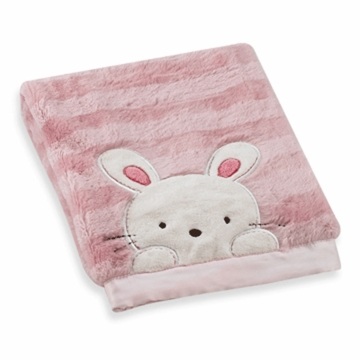 Carter's Cushy Soft Blanket in Pink with Bunny