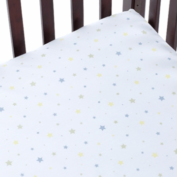 Carter's Easy Fit Crib Printed Fitted Sheet in Star