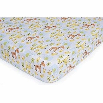 Carter's Easy Fit Quilted Playard Sheet- Safari Duck