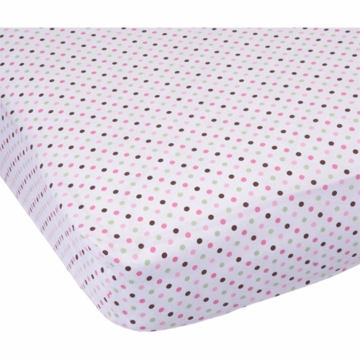Carter's Easy Fit Printed Crib Fitted Sheet - Pink/Green Dots