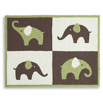 Carter's Elephant Green Rug