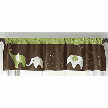 Carter's Elephant Green Valance