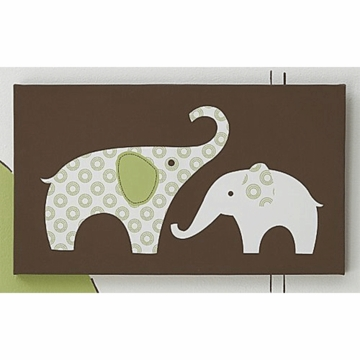 Carter's Elephant Green Wall Art