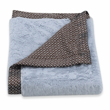 Carter's Everyday Easy Fur with Satin Blanket in Blue/Brown