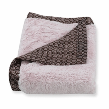 Carter's Everyday Easy Fur with Satin Blanket in Pink/Brown