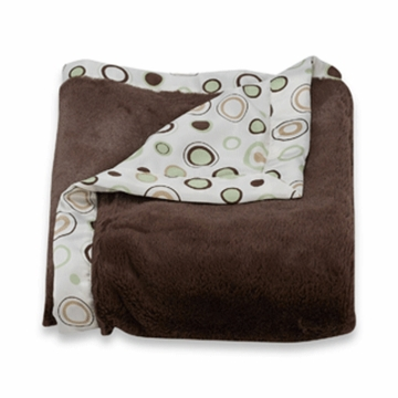 Carter's Everyday Easy Fur with Satin Blanket in Sage/Brown
