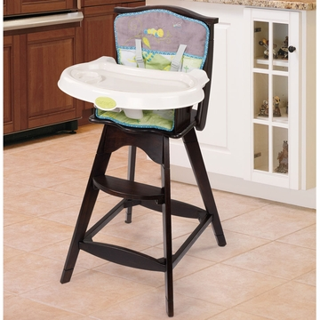 Carter's Flitter Classic Comfort Reclining Wood High Chair by Summer Infant