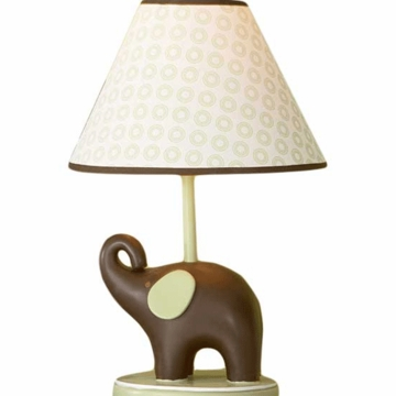 Carter's Green Elephant Lamp Base and Shade