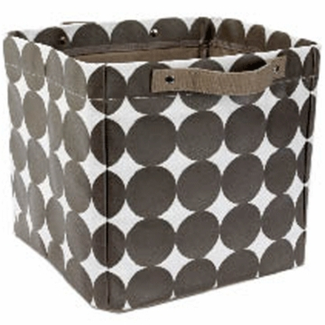 DwellStudio Dots Chocolate Small Storage Bin