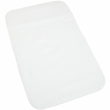 Carter's Keep-Me-Dry Flannel Bassinet Pad - White