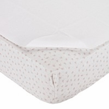 Carter's Keep Me Dry Flannel Crib Pad in White