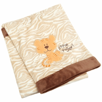 Carters Printed Velour Blanket Little Tiger