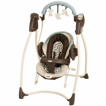 Graco Duet 2 in 1 Swing & Bounce with Plug - Carlisle