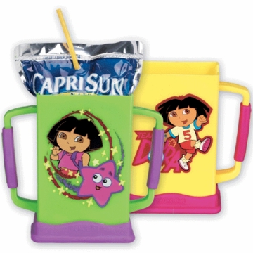 Munchkin Dora the Explorer Grip N Sip Juice Box Carrier 82201 - ASSORTMENT