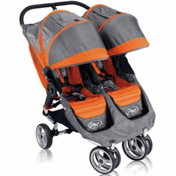 Baby Jogger 2011 City Mini Double in Orange/Gray