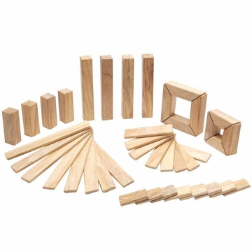 Tegu Explorer Set: Natural Magnetic Blocks (40 pcs)