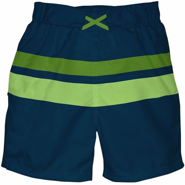 iPlay Ultimate Swim Diaper Block Boardshorts - Mod Navy - Large (18mo)