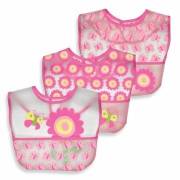 iPlay Waterproof Pocket Bib 3pk - Flowers (Stage 3)