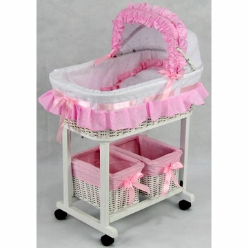 Regal Doll Carriages Julia Doll Bed + 2 Tidies
