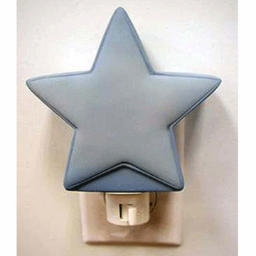 Katie Little Night Light in Blue Star