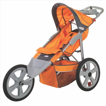 InSTEP Flash Fixed Jogging Stroller-Single Orange/Gray