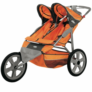 InSTEP Flash Fixed Jogging Stroller-Double  Orange/Gray