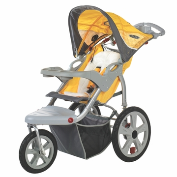 InSTEP Grand Safari Swivel Jogging Stroller-Single Yellow/Gray