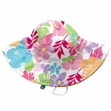 iPlay Brim Sun Protection Hat - Classics White Tropical Floral - Infant (6-18 mo)