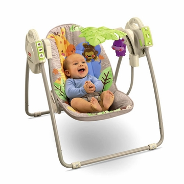 Fisher-Price Precious Planet Khaki Sands Open Top Take-Along Swing