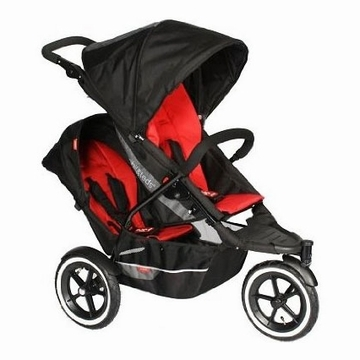 Phil & Teds Explorer Buggy Stroller with Double Kit -Red