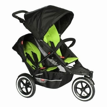 Phil & Teds Explorer Buggy Stroller with Double Kit - Apple