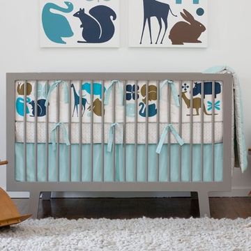 DwellStudio 4 Piece Baby Crib Bedding Gio in Aqua