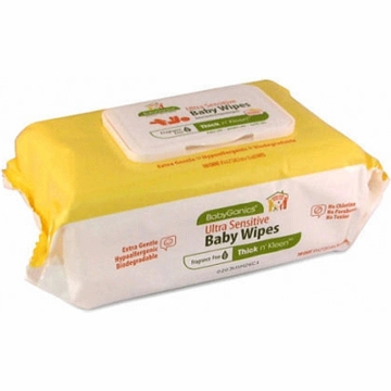 Babyganics Thick & Kleen Ultra Sensitive Baby Wipes - 100ct. Pack