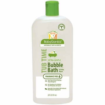 Babyganics Bubble Bath & Body Wash Extra Gentle- 20oz- Fragrance Free