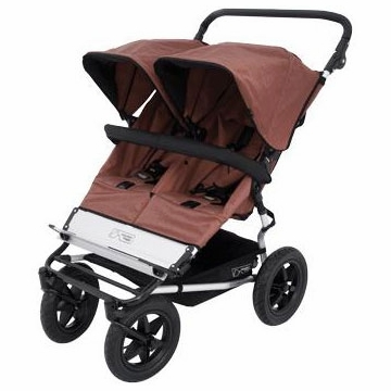 Mountain Buggy Duo Double Stroller - Chocolate Dot