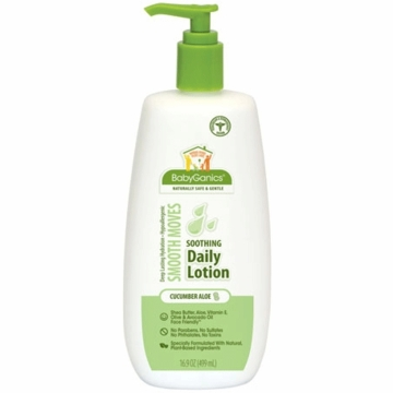 Babyganics Daily Lotion Soothing Bottle with Pump 16.9 oz Cucumber Aloe