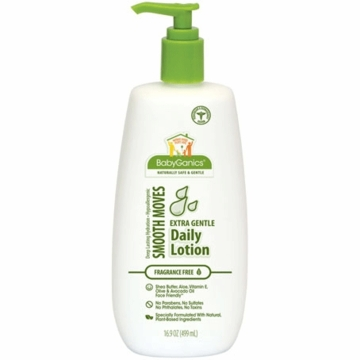Babyganics Daily Lotion Soothing Bottle with Pump 16.9 oz Fragrance Free