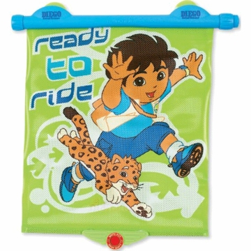 Munchkin Go Diego Go White Hot Sunshade with Blue Handle