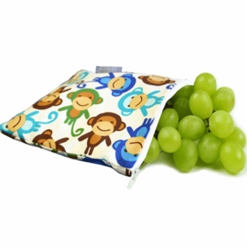 Itzy Ritzy Snack Happened Resuable Snack Bag in Funky Monkey Remix