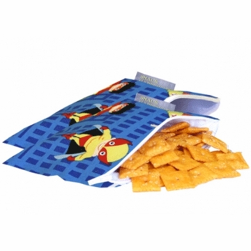 Itzy Ritzy Snack Happened Resuable Mini Snack Bag in Playground Superheroes