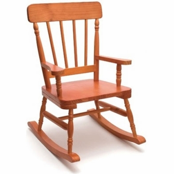 Lipper High Back Child Rocker - Pecan