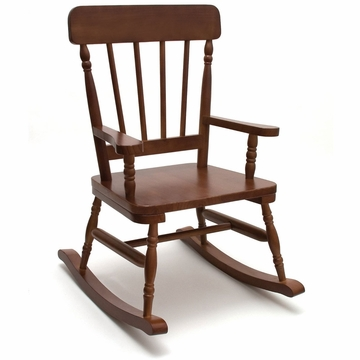 Lipper High Back Child Rocker - Walnut