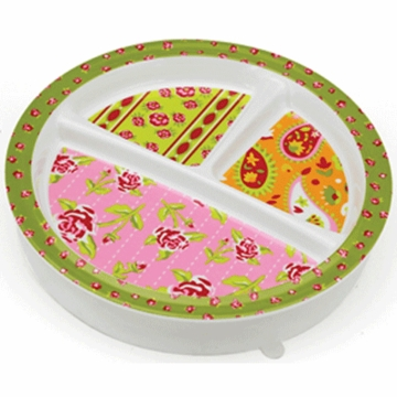 Sugar Booger Tea Party Divided Sunction Plate