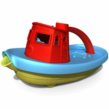 Green Toys Tug Boat in Red